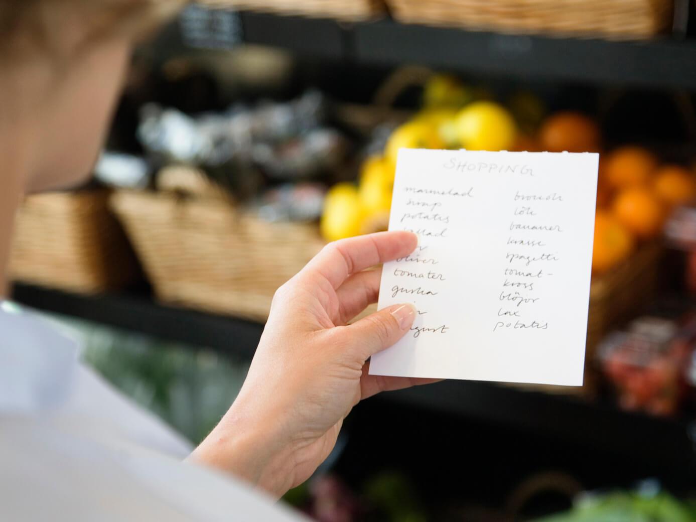 Список продуктів
