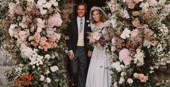 З'явилися фото з таємного весілля онуки Єлизавети II