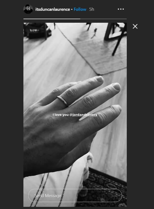 Скріншот з Instagram Дункана Лоуренса