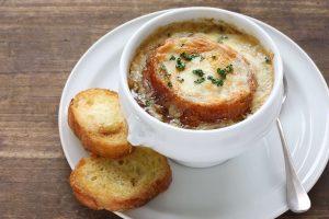 Суп з цибулі та часнику