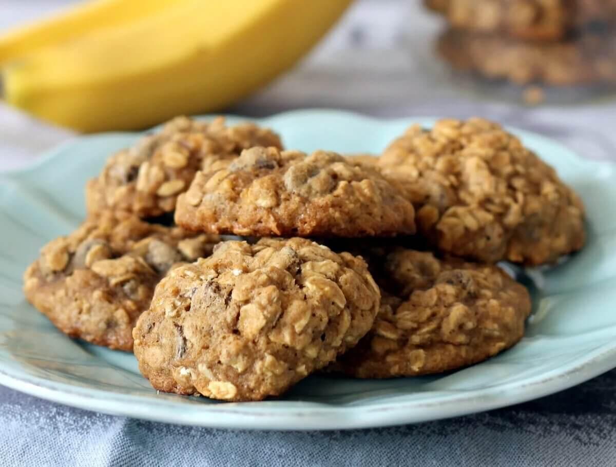 Вівсяне печиво без цукру з бананом