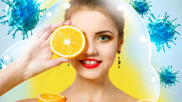 Жінка і апельсин